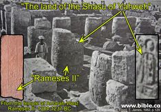 """Soleb Temple Cartouche: """"The Shashu of Yahweh's Land"""" 1396-1358 BC They're Digging up Bible Stories!"""