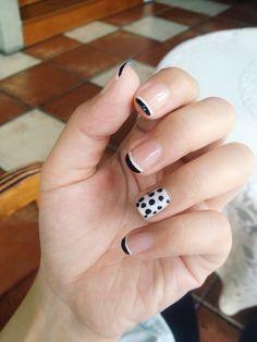Nail art ⚪️⚫️