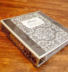Recipe binder.  Copy this look.