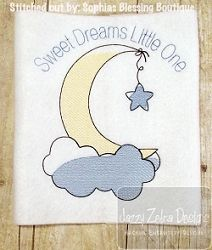 Moon and Star Sketch - 4 Sizes! | What's New | Machine Embroidery Designs | SWAKembroidery.com Jazzy Zebra Designs