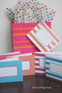 Free Printable Happy Birthday Cards via @craftingchicks