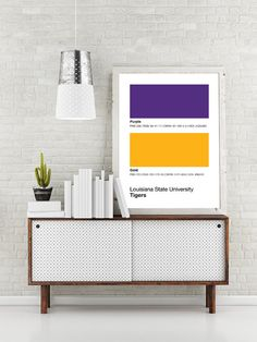 LSU Tigers Pantone Poster - Louisiana State University Tiger - Print, Boyfriend Gift, Fathers Day Gift - Purple And Gold