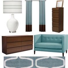 Mod Blue and Brown