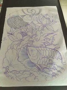 full black sleeve tattoo meaning Black Sleeve Tattoo, Full Sleeve Tattoo Design, Full Body Tattoo, Full Sleeve Tattoos, Body Art Tattoos, Koi Tattoo Design, Tattoo Design Drawings, Asian Tattoos, Black Tattoos
