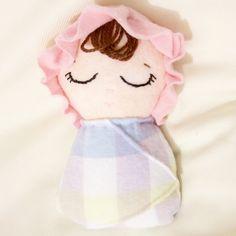 Custom doll Custom made swaddled baby doll wool by LaChulonaDolls
