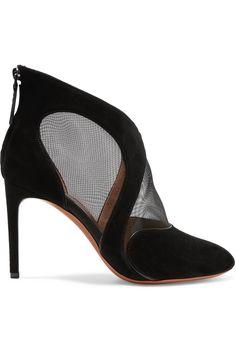 ALAÏA Mesh and suede ankle boots. #alaïa #shoes #boots