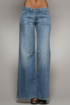 The Deluxe Wide Leg Jean in Sky by Hudson Jeans at CoutureCandy.com