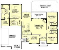 Craftsman Style House Plan - 3 Beds 2 Baths 1769 Sq/Ft Plan #430-99 Main Floor Plan - Houseplans.com