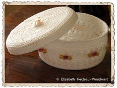 Trinket Crocheted Basket & Cover