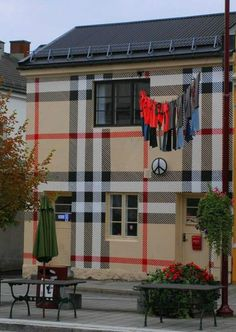 House covered in Burberry Plaid