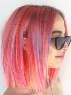 Medium length is a best option for ladies who want to get extra shine in their hairstyles. Get ready to be look great and gorgeous by wearing these fantastic medium length haircuts with unique kinds of pink hair colors. Look at these given styles and analyze how amazing styles they are looking on various face shapes.