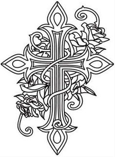 Coloring pages of crosses and roses coloring pages for Coloring pages of crosses and roses
