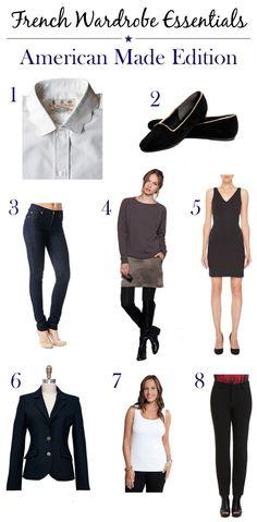 French Wardrobe Essentials :: American Made Edition