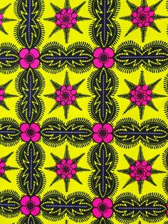 a0624d40a Bright fabric African print fabric yellow pink african fabric by the yards  Ankara fabric African wax Print fabric african cotton fabric