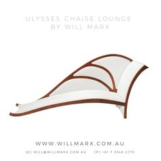 Inspired by the delicate beauty and curved form of the Australian Ulysses butterfly, this chaise lounge uses a combination of the rich dark Walnut timber to contrast against the luxurious crisp white Mokum fabric, with a tree motif to create this elegant accent piece. Every chaise lounge comes with a 10 year warranty on construction. Worldwide Shipping. Visit www.willmarx.com.au for more details.