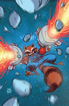 skottieyoung:Rocket Raccoon Free Comic Book Day cover.