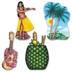Luau Party Luau Cutouts (48ct)