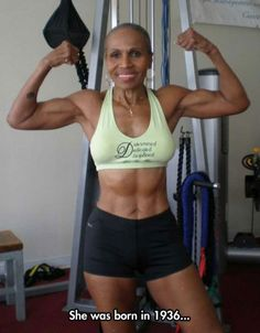 Now that's some motivation!  Look at her she's absolutely stunning and almost 80 yrs old!! WOW!