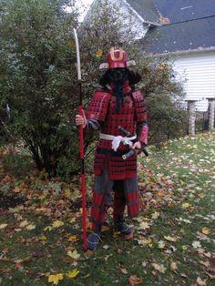 Home made Samurai armor on Halloween