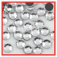 Ss30 6.4-6.6mm, 288pcs/bag blanco claro dmc