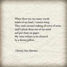 Writing poetry-- When do you do it? How do you feel inspired?