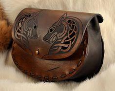 Cosplay Viking Wolf Belt Pouch, Costume Belt Pouch LARP Wolf Belt Bag, Medieval Celtic LARP Costume, Fenrir Norse LARP Purse, Mens Womens