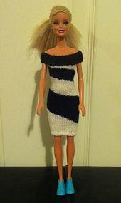 Ravelry: #0363 Black & White Dress pattern by stickatillbarbie.se