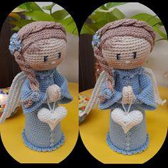 Fast Crochet, Crochet Toys, Cupcake Dolls, Crochet Angels, Santa Ornaments, Cupcakes, Halloween, Children, Handmade Christmas