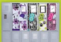 DIY locker decor ideas, decoration garage, fun, entryway, projects, duct tape, shelves, benches, drawers, pom poms and hooks