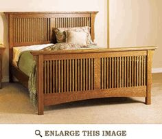 Beds headboards nightstands on pinterest bedroom for Arts and crafts bed plans