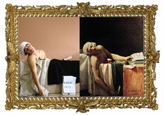 ric95 rappresenta La morte di Marat di Jaques-Louis David. #imparalarte