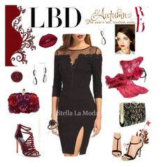 """""""Little Black Dress - Ruby"""" by belladonnasjoy ❤ liked on Polyvore featuring Ted Baker, Lipsy, Alexander McQueen, Carla Amorim, Burberry and Call it SPRING"""