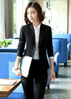 Teen Fashion Outfits, Womens Fashion, Classic Suit, Fashion Design Sketches, Blazer Dress, Asian Style, Business Fashion, Clothes For Women, How To Wear