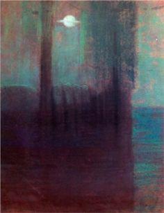 Night by Mikalojus Ciurlionis