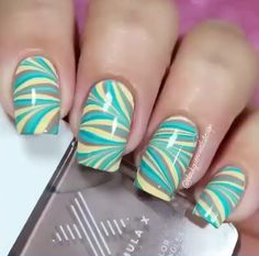 Check out the video from the channel nail art design channel and suscribe!!