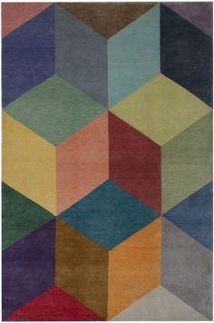 3636 3D Tiles Washed 200x300cm  loomrugs.com