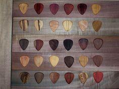 30 Exotic Wood Guitar Picks by RobinsonWoodPicks on Etsy, $60.00