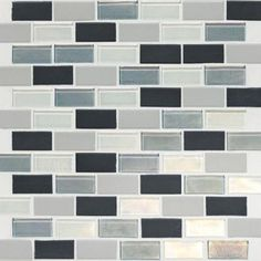 shower backsplash- Daltile Coastal Keystones Tropical Thunder Brick Joint 12 in. x 12 in. x 6 mm Glass Mosaic Floor and Wall Tile-CK8821BJPM1P at The Home Depot