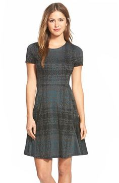 Betsey Johnson Print Ponte Fit & Flare Dress available at #Nordstrom