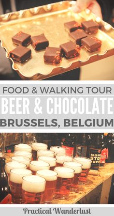 Beer and chocolate: the most delicious Belgian inventions. The Brussels beer and chocolate tour will teach you all about these yummy Belgian icons. Explore great food and learn all about Brussels, Belgium!