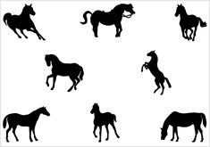 Horse Silhouette Vector Graphics - Silhouette Clip Art