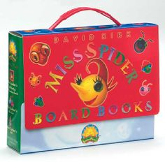 @Overstock - This new boxed set edition is a gorgeous collection of all of the Miss Spider board book favorites: Miss Spider's A B C, Miss Spider's New Car, and Miss Spider's Tea Party: The Counting Book.http://www.overstock.com/Books-Movies-Music-Games/Miss-Spider-Books/630685/product.html?CID=214117 $8.03