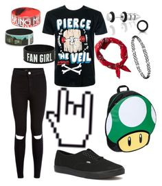 """""""Untitled #103"""" by catiepayne ❤ liked on Polyvore featuring Bling Jewelry, American Eagle Outfitters, Dorothy Perkins, Vans and Nintendo"""