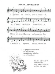 pracovní list rodina - Hledat Googlem Kids Songs, Holidays And Events, Preschool Activities, Sheet Music, Classroom, Ukulele, Spring, Carnavals, Creative