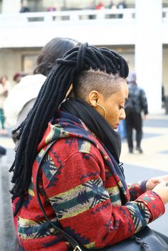 Dreadlocks w/ shaved sides & back