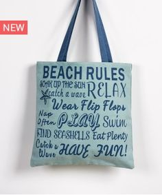 FLOP ΤΣΑΝΤΑ ΩΜΟΥ Beach Rules, Live In Style, Sea Shells, Have Fun, Relax, Reusable Tote Bags, Waves, Summer, Summer Time
