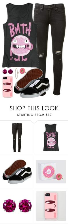 """""""It don't matter what you say, I know I could never face someone that could sound like you"""" by rocketsheep ❤ liked on Polyvore featuring rag & bone, Vans, Reeds Jewelers and Blue Nile"""