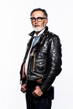 Vintage Leather Jacket, Men's Leather Jacket, Leather Men, Leather Jackets, Pink Leather, Old Man Fashion, Mod Fashion, European Models, European Fashion