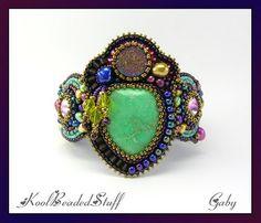 Bead embroidery by KoolBeadedStuff via Beads Magic - http://beadsmagic.com/?p=2149#more-2149