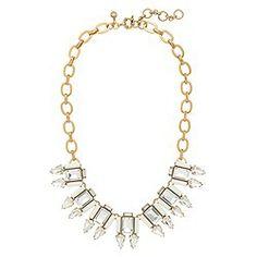 Stone frame necklace